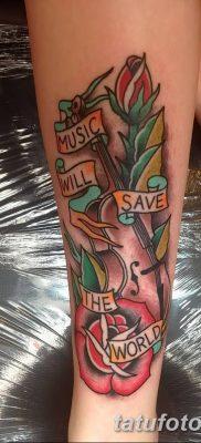 Фото тату виолончель от 04.08.2018 №082 – tattoo cello – tatufoto.com