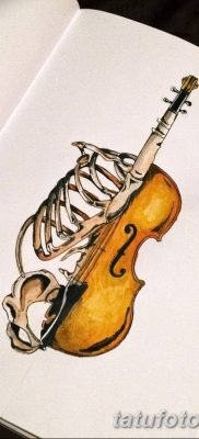 Фото тату виолончель от 04.08.2018 №085 – tattoo cello – tatufoto.com