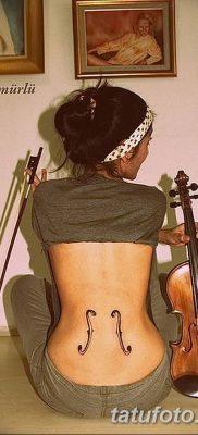 Фото тату виолончель от 04.08.2018 №086 – tattoo cello – tatufoto.com