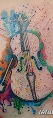 Фото тату виолончель от 04.08.2018 №087 – tattoo cello – tatufoto.com