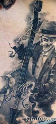 Фото тату виолончель от 04.08.2018 №088 – tattoo cello – tatufoto.com