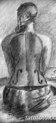 Фото тату виолончель от 04.08.2018 №090 – tattoo cello – tatufoto.com