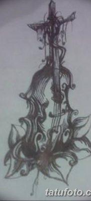Фото тату виолончель от 04.08.2018 №092 – tattoo cello – tatufoto.com