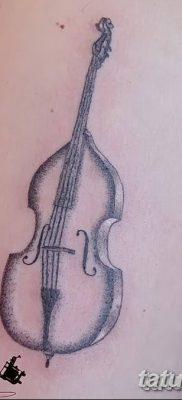 Фото тату виолончель от 04.08.2018 №142 – tattoo cello – tatufoto.com