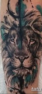 Фото тату голова льва от 08.08.2018 №003 – tattoo head of a lion – tatufoto.com
