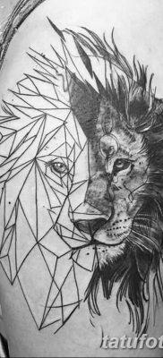 Фото тату голова льва от 08.08.2018 №005 – tattoo head of a lion – tatufoto.com