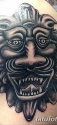 Фото тату голова льва от 08.08.2018 №007 – tattoo head of a lion – tatufoto.com