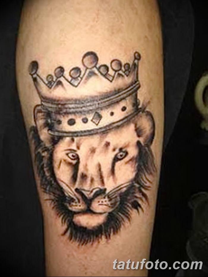 Фото тату голова льва от 08.08.2018 №008 - tattoo head of a lion - tatufoto.com