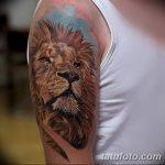 Фото тату голова льва от 08.08.2018 №010 - tattoo head of a lion - tatufoto.com
