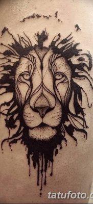 Фото тату голова льва от 08.08.2018 №011 – tattoo head of a lion – tatufoto.com