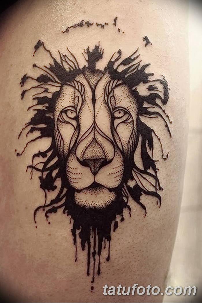 Фото тату голова льва от 08.08.2018 №011 - tattoo head of a lion - tatufoto.com