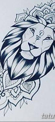 Фото тату голова льва от 08.08.2018 №012 – tattoo head of a lion – tatufoto.com