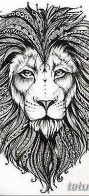 Фото тату голова льва от 08.08.2018 №013 – tattoo head of a lion – tatufoto.com