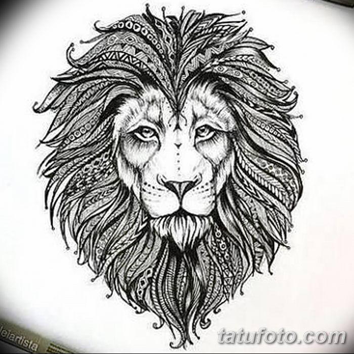 Фото тату голова льва от 08.08.2018 №013 - tattoo head of a lion - tatufoto.com