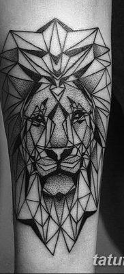 Фото тату голова льва от 08.08.2018 №014 – tattoo head of a lion – tatufoto.com