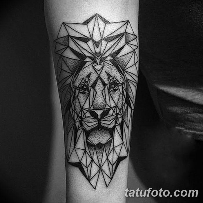 Фото тату голова льва от 08.08.2018 №014 - tattoo head of a lion - tatufoto.com