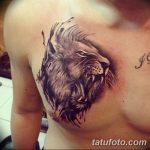 Фото тату голова льва от 08.08.2018 №017 - tattoo head of a lion - tatufoto.com