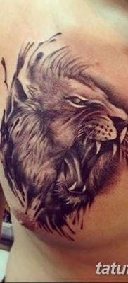 Фото тату голова льва от 08.08.2018 №017 – tattoo head of a lion – tatufoto.com