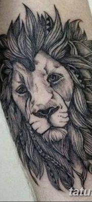 Фото тату голова льва от 08.08.2018 №020 – tattoo head of a lion – tatufoto.com