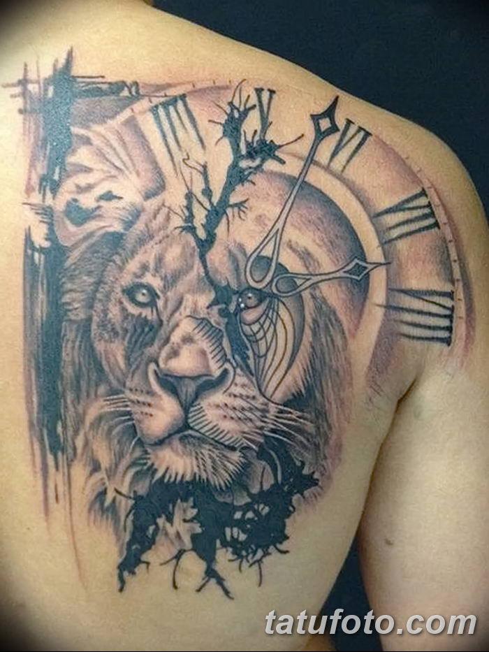 Фото тату голова льва от 08.08.2018 №021 - tattoo head of a lion - tatufoto.com