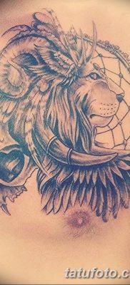 Фото тату голова льва от 08.08.2018 №022 – tattoo head of a lion – tatufoto.com