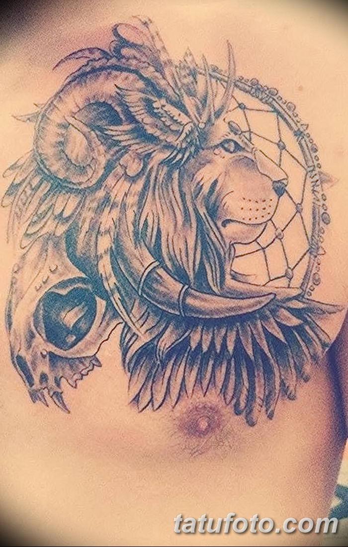 Фото тату голова льва от 08.08.2018 №022 - tattoo head of a lion - tatufoto.com