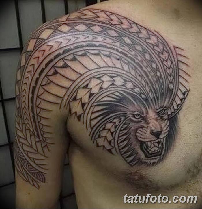 Фото тату голова льва от 08.08.2018 №023 - tattoo head of a lion - tatufoto.com