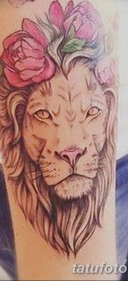 Фото тату голова льва от 08.08.2018 №026 – tattoo head of a lion – tatufoto.com