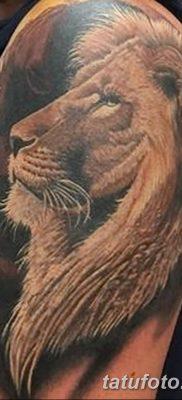 Фото тату голова льва от 08.08.2018 №028 – tattoo head of a lion – tatufoto.com