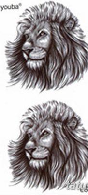 Фото тату голова льва от 08.08.2018 №032 – tattoo head of a lion – tatufoto.com