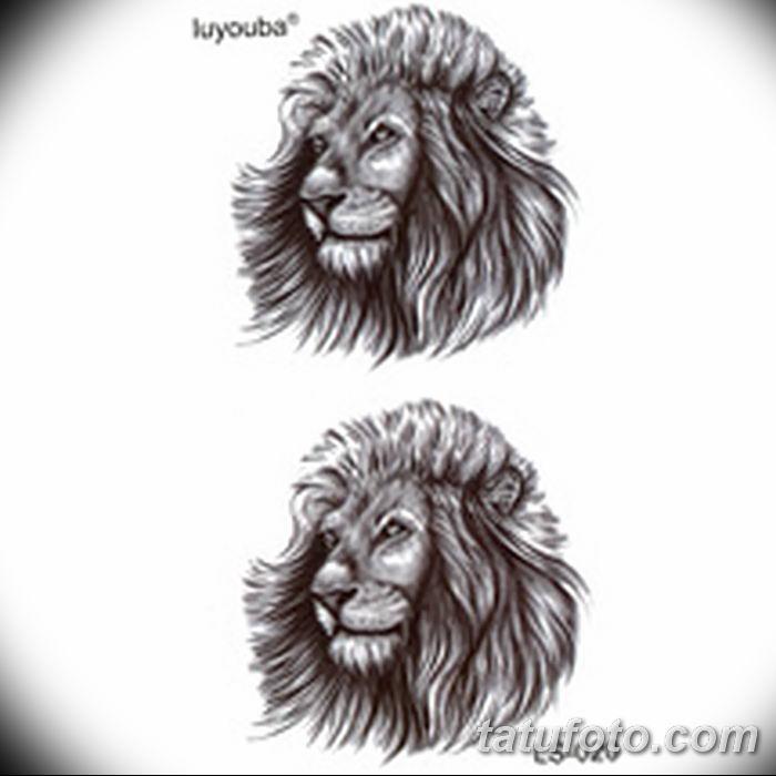 Фото тату голова льва от 08.08.2018 №032 - tattoo head of a lion - tatufoto.com