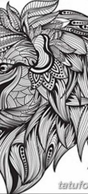 Фото тату голова льва от 08.08.2018 №033 – tattoo head of a lion – tatufoto.com