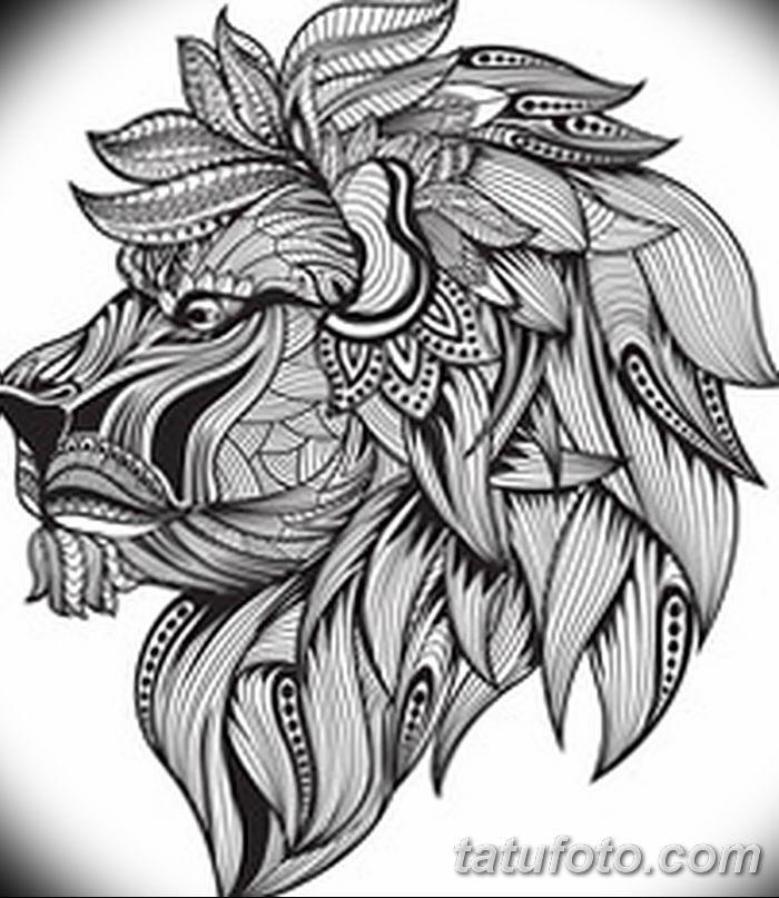 Фото тату голова льва от 08.08.2018 №033 - tattoo head of a lion - tatufoto.com
