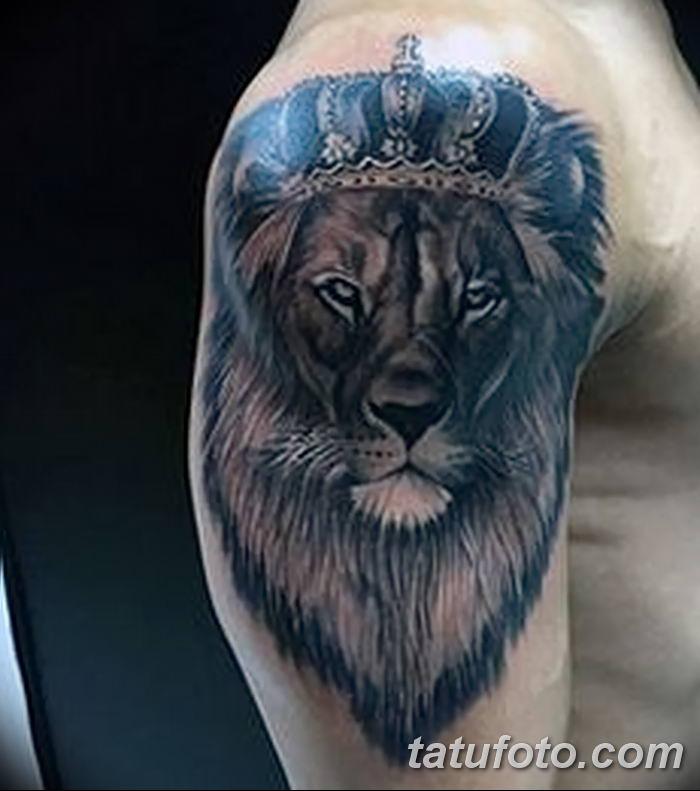 Фото тату голова льва от 08.08.2018 №034 - tattoo head of a lion - tatufoto.com
