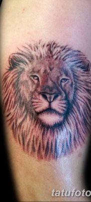 Фото тату голова льва от 08.08.2018 №035 – tattoo head of a lion – tatufoto.com