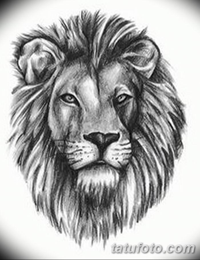 Фото тату голова льва от 08.08.2018 №038 - tattoo head of a lion - tatufoto.com