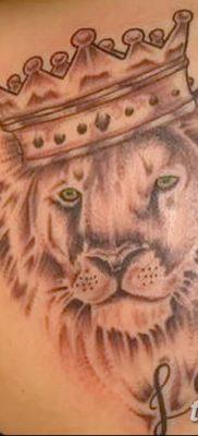 Фото тату голова льва от 08.08.2018 №039 – tattoo head of a lion – tatufoto.com