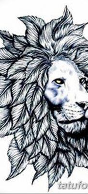 Фото тату голова льва от 08.08.2018 №040 – tattoo head of a lion – tatufoto.com