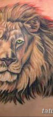 Фото тату голова льва от 08.08.2018 №041 – tattoo head of a lion – tatufoto.com