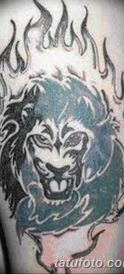 Фото тату голова льва от 08.08.2018 №042 – tattoo head of a lion – tatufoto.com