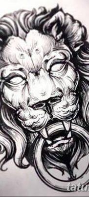 Фото тату голова льва от 08.08.2018 №044 – tattoo head of a lion – tatufoto.com