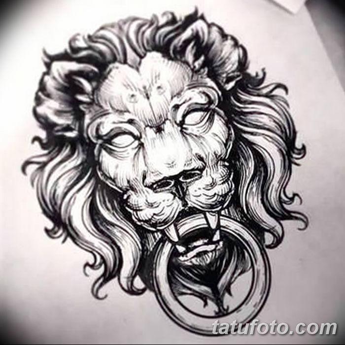 Фото тату голова льва от 08.08.2018 №044 - tattoo head of a lion - tatufoto.com