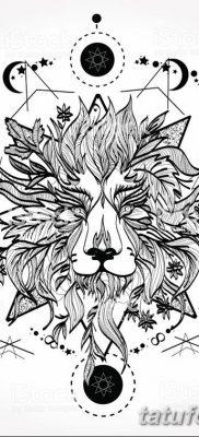 Фото тату голова льва от 08.08.2018 №045 – tattoo head of a lion – tatufoto.com