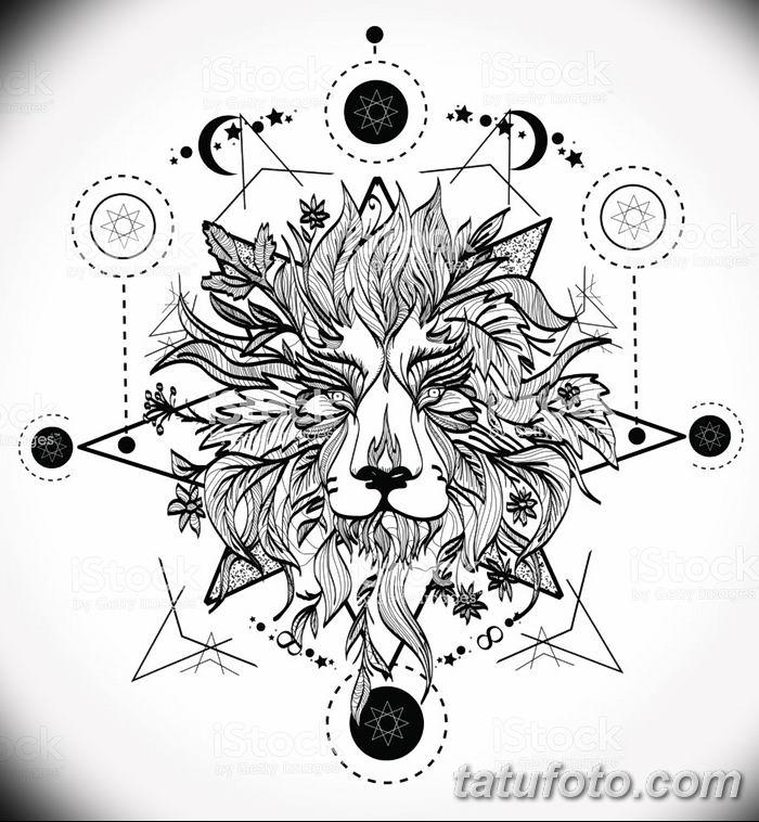 Фото тату голова льва от 08.08.2018 №045 - tattoo head of a lion - tatufoto.com