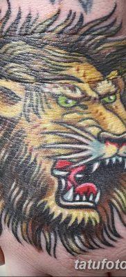 Фото тату голова льва от 08.08.2018 №046 – tattoo head of a lion – tatufoto.com