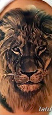 Фото тату голова льва от 08.08.2018 №048 – tattoo head of a lion – tatufoto.com