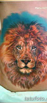 Фото тату голова льва от 08.08.2018 №050 – tattoo head of a lion – tatufoto.com