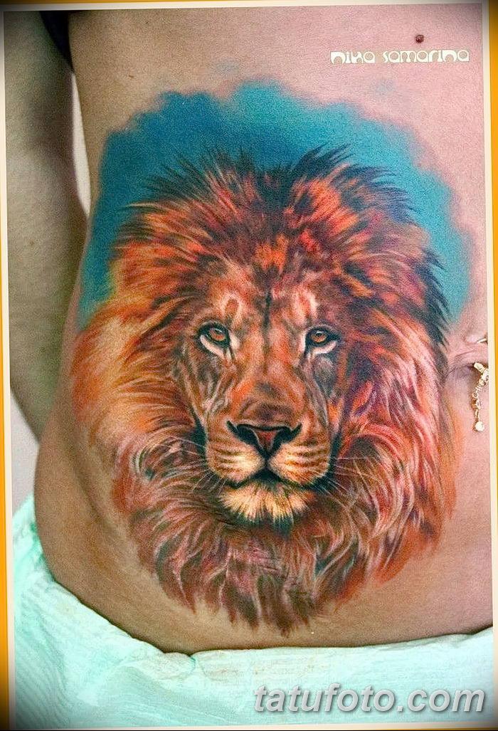 Фото тату голова льва от 08.08.2018 №050 - tattoo head of a lion - tatufoto.com