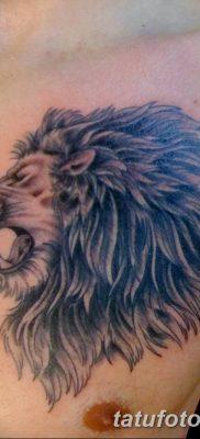 Фото тату голова льва от 08.08.2018 №121 – tattoo head of a lion – tatufoto.com