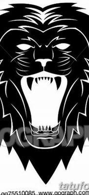 Фото тату голова льва от 08.08.2018 №122 – tattoo head of a lion – tatufoto.com